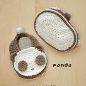Panda Baby Booties Crochet PATTERN ..