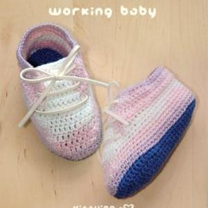 Working Baby Booties PATTERN, SYMBO..