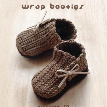 Crochet Pattern Wrap Baby Booties P..