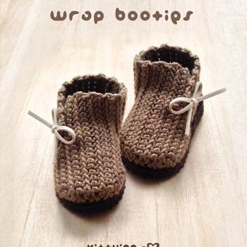 Crochet Patterns For Baby Washcloths : Crochet Pattern Wrap Baby Booties Preemie Boots Newborn ...