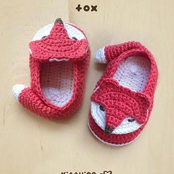 Free Crochet Pattern For Preemie Baby Booties : Crochet Pattern Fox Baby Booties Fox Preemie Socks Fox ...