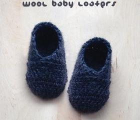 Crochet Pattern Wool Baby Loafers Newborn Booties Infants Loafers Preemie Shoes Crochet Pattern