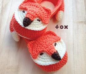 Crochet Pattern Fox Women House Slipper Crochet Pattern - Women's sizes 5 6 7 8 9 10 - Chart & Written Pattern by kittying