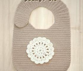 Pocket Bib Crochet PATTERN, SYMBOL DIAGRAM (pdf)
