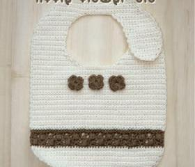 Little Flower Bib Crochet PATTERN, SYMBOL DIAGRAM (pdf)