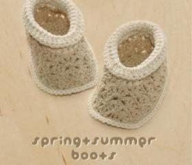 Spring Summer Khaki Boots Crochet PATTERN, SYMBOL DIAGRAM (pdf)