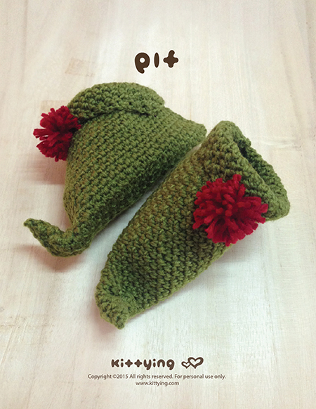 Free Crochet Pattern Baby Ear Warmer : Elf Baby Booties Crochet PATTERN For Christmas Holiday ...