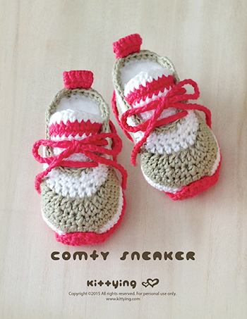 Crochet Patterns For Children s Shoes : Crochet Baby Pattern Comfy Nike Baby Sneakers Crochet Baby ...