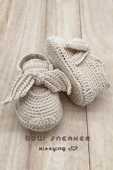 Crochet Newborn Sneakers Pattern Fenty Bow Sneakers Crochet Baby Shoes Crochet Booties Crochet Pattern Newborn Rihanna Sneakers Preemie Shoes Baby Bow Sneakers Crochet Pattern Preemie Sneakers Newborn Shoes Fenty Rihanna Bow Booties Crochet PATTERN - Chart & Written Pattern