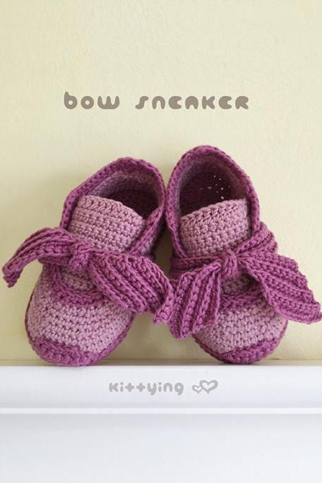 Crochet Baby Sneakers Pattern Bow Sneakers Crochet Baby Shoes Crochet Booties Crochet Pattern Baby Sneakers Baby Shoes Baby Bow Sneakers Crochet Pattern Baby Sneakers Newborn Shoes Bow Booties Crochet PATTERN - Chart & Written Pattern