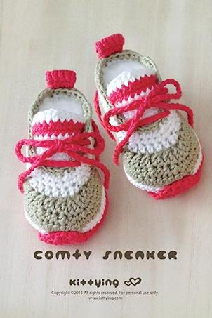 Crochet Baby Pattern Comfy Nike Baby Sneakers Crochet Baby Shoes Crochet Booties Crochet Pattern Newborn Sneakers Newborn Shoes Adidas Baby Booties Crochet PATTERN - Chart & Written Pattern