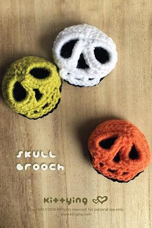 Halloween Crochet Pattern Skull Brooch Skull 3D Applique Skull Crochet Patterns Skull Applique Skull Accessories Crochet Pattern Halloween Skull Brooches 3D Skull Crochet Applique Halloween Accessories Halloween Costume by kittying.com from mulu.us