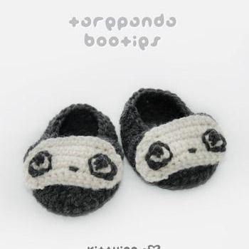 Tarepanda Baby Booties Crochet PATTERN, SYMBOL DIAGRAM (pdf) by kittying