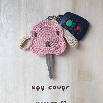 Rabbit Lop Bunny Key Cover Crochet PATTERN - Chart & Written Pattern by Kittying Crochet Pattern