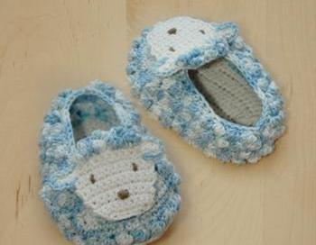 Sheep Baby Booties Crochet PATTERN, SYMBOL DIAGRAM (pdf ...